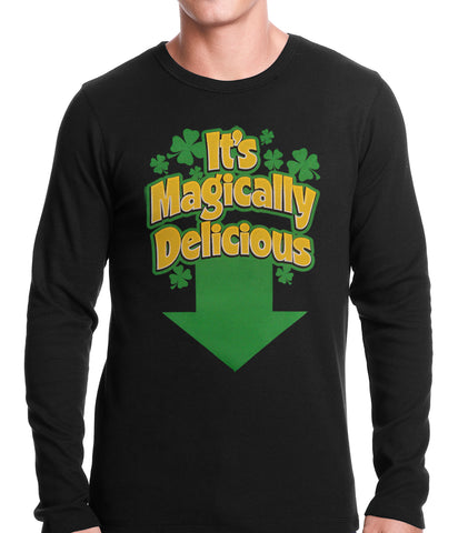 It's Magically Delicious Irish Shamrock Thermal Shirt