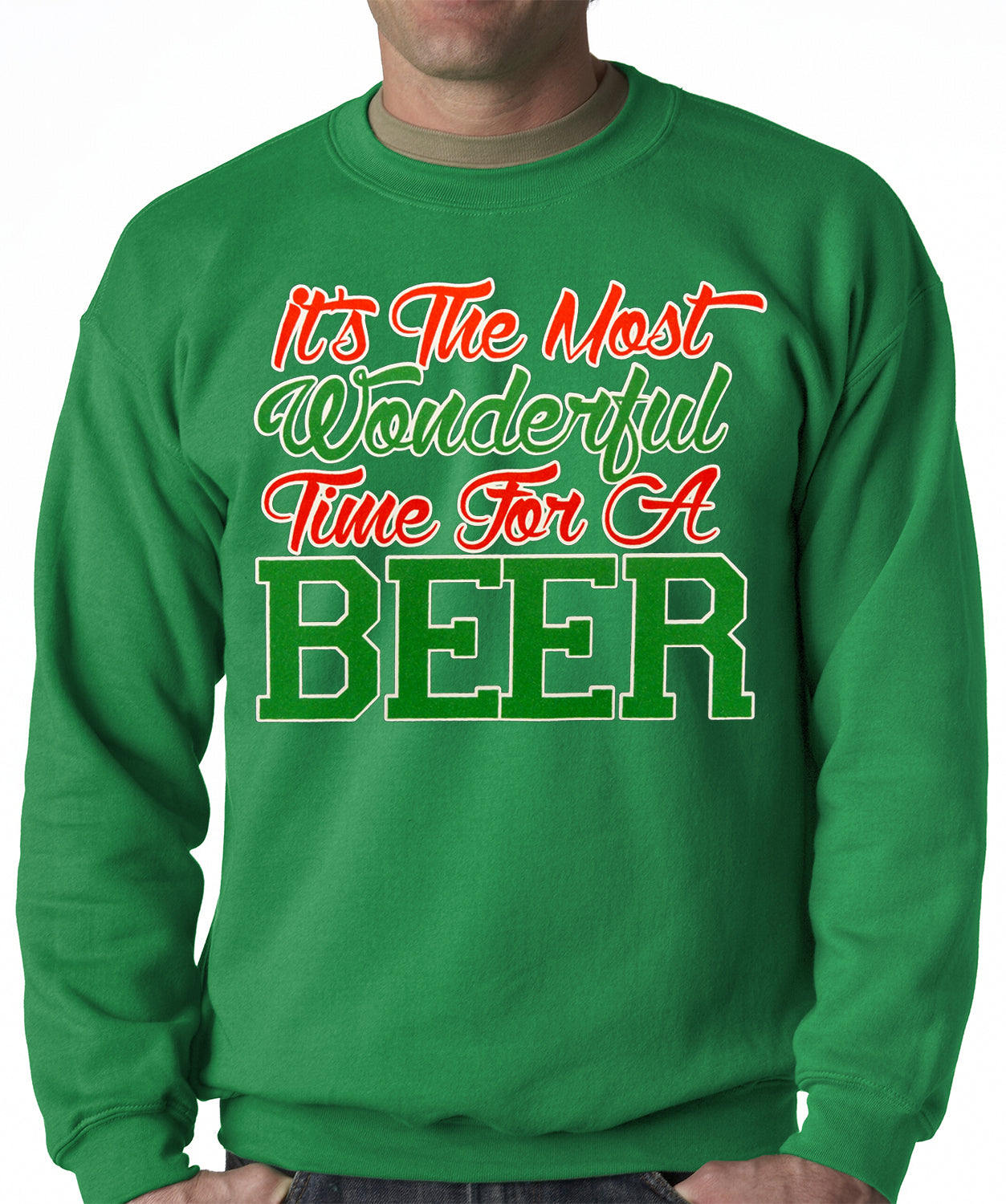 It's The Most Wonderful Time For A Beer Adult Crewneck