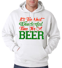 It's The Most Wonderful Time For A Beer Adult Hoodie