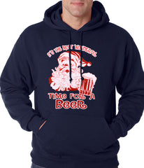 It's The Most Wonderful Time for a Beer Funny Christmas Adult Hoodie