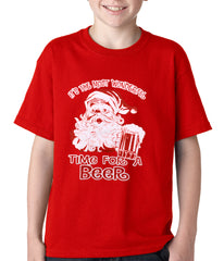 It's The Most Wonderful Time for a Beer Funny Christmas Kids T-shirt