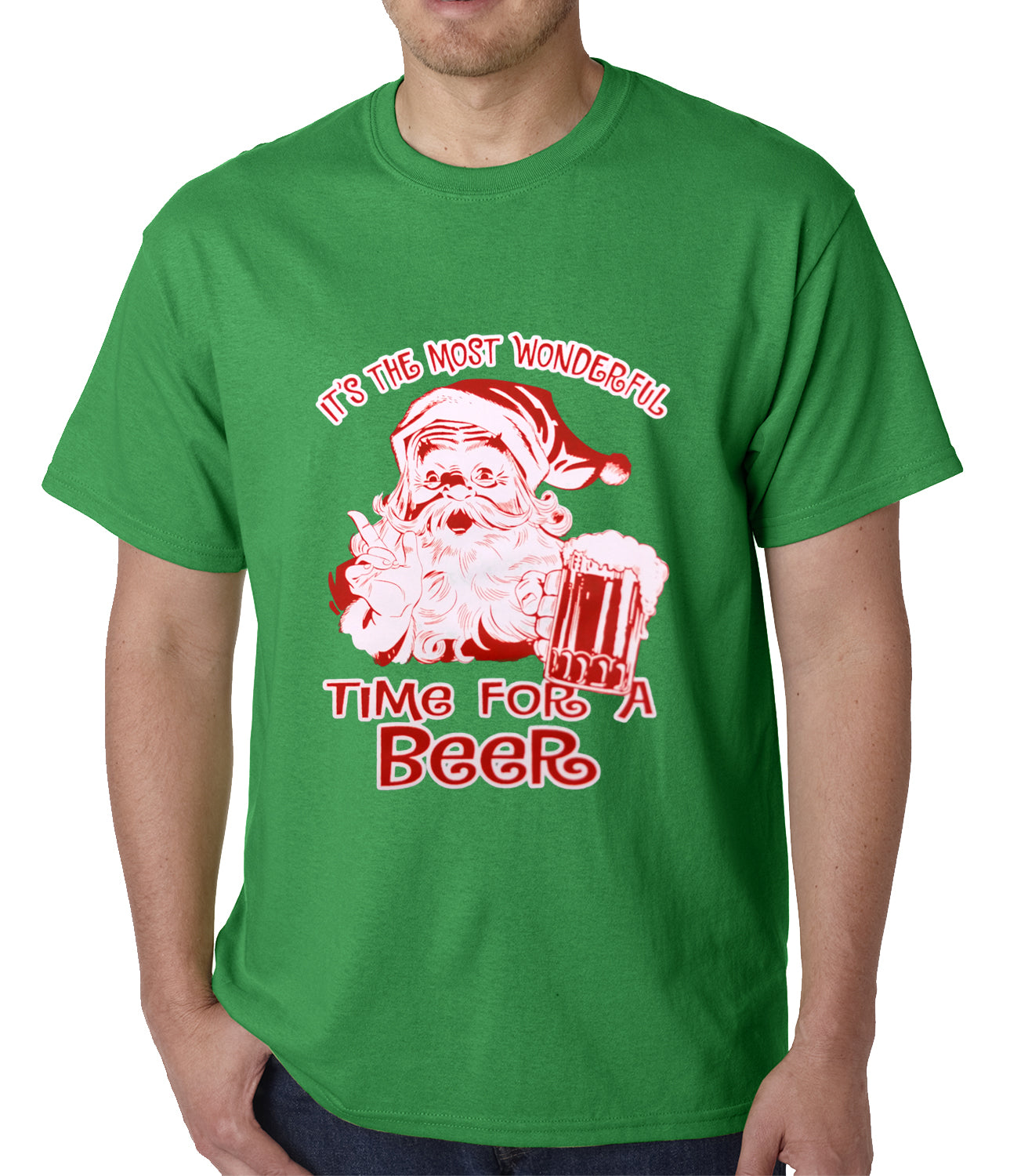c4717015c It's The Most Wonderful Time for a Beer Funny Christmas Mens T-shirt ...