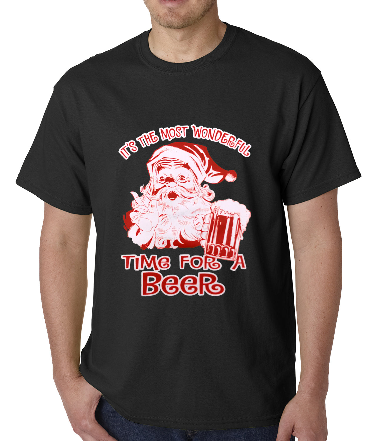 a81343600 It's The Most Wonderful Time for a Beer Funny Christmas Mens T-shirt –  Bewild