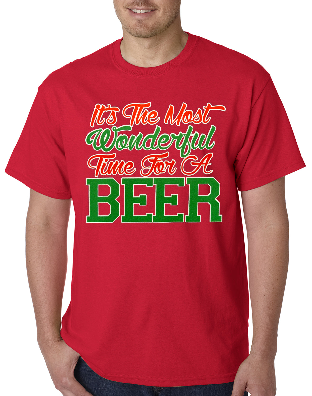 80a9a3360 It's The Most Wonderful Time For A Beer Mens T-shirt – Bewild