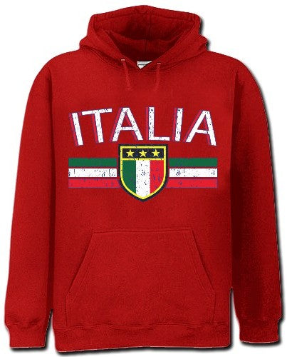 Italia Vintage Shield International Mens Hoodie