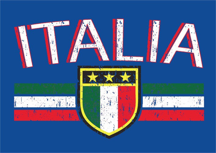 Italia Vintage Shield International Mens T-Shirt