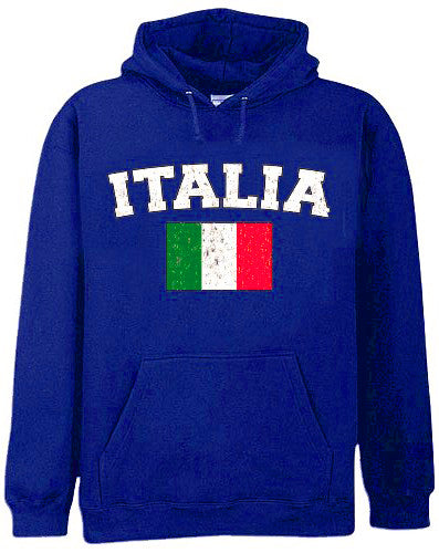 "Italy ""Italia"" Vintage Flag International Hoodie"
