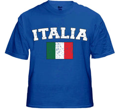 "Italy ""Italia"" Vintage Flag International Mens T-Shirt"