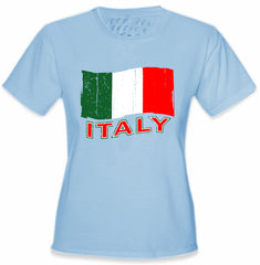Italy Vintage Flag Girl's T-Shirt