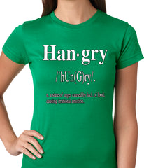 Hangry Definition Ladies T-shirt