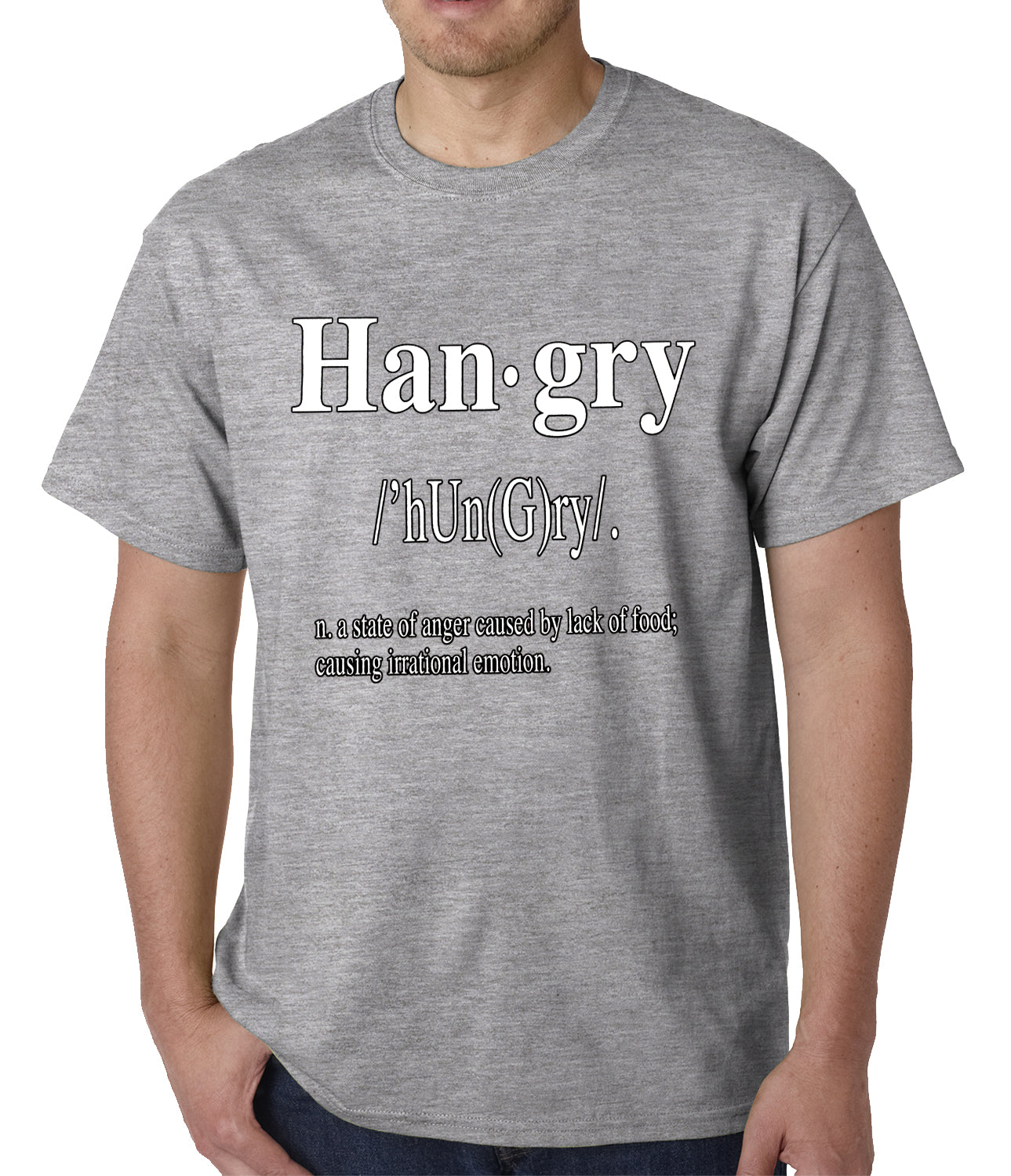 Hangry Definition Mens T-shirt