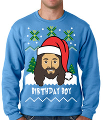 Jesus - Birthday Boy - Ugly Christmas Sweater Crewneck Sweatshirt