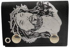 Jesus Christ Genuine Leather Chain Wallet