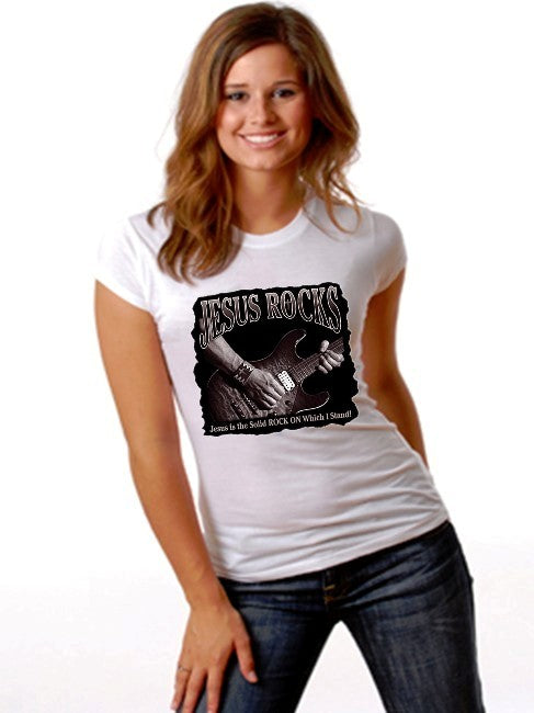 Jesus Rocks Guitar Girls T-Shirt