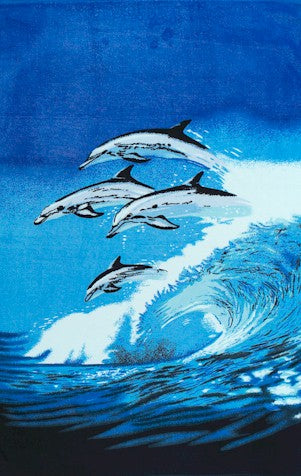 Jumping Dolphins Beach & Bath Towel