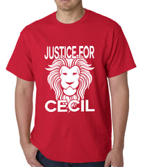 Justice For Cecil The Lion Mens T-shirt