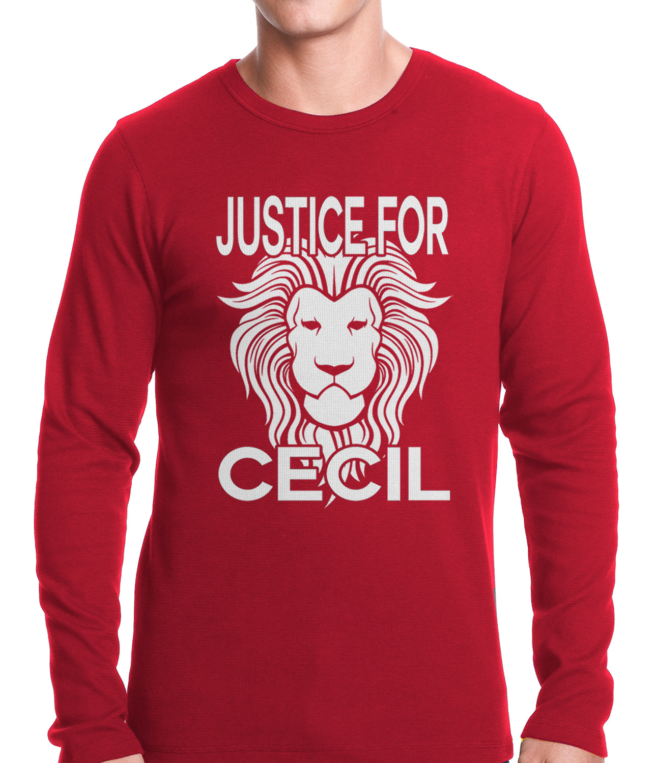 Justice For Cecil The Lion Thermal Shirt