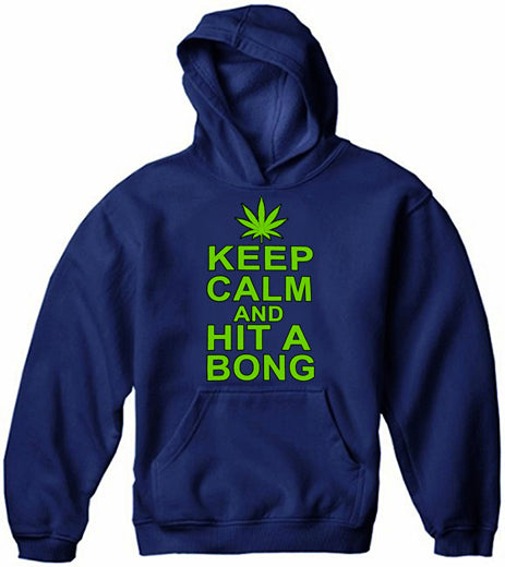 Keep Calm and Hit a Bong Adult Hoodie