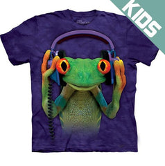 Kid's DJ Peace Frog Big Face T-Shirt