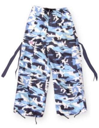 Kids Unisex Basic UFO Pants  (Blue Camo)