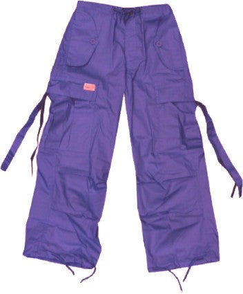 Kids Unisex Basic UFO Pants (Dark Purple)