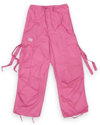 Kids Unisex Basic UFO Pants  (Hot Pink)