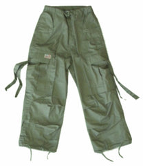 Kids Unisex Basic UFO Pants (Moss Green)