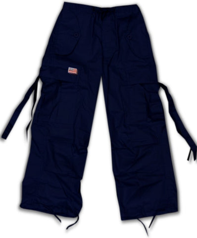Kids Unisex Basic UFO Pants (Navy Blue)