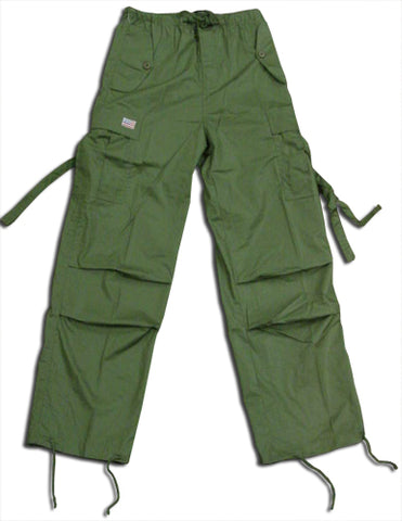 Kids Unisex Basic UFO Pants (Olive Green)