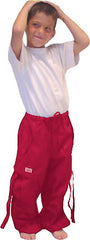 Kids Unisex Basic UFO Pants (Red)