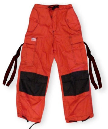 Kids Unisex Basic UFO Pants (Red / Black Two Tone)