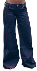 "KikGirl Jeans - KikGirl 26"" Deluxe Wideleg Pants (Blue Denim)"