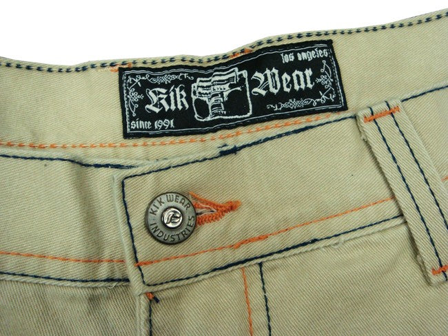 "Kikwear 32"" Soft Twill ""Old Skool"" Pants (Khaki)"