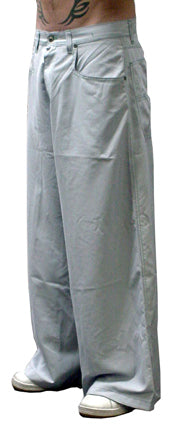 "Kikwear 32"" Super Deluxe Microsuede Widelegs (Light Grey)"