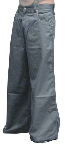 Kikwear 32'' Twill Old Skool Pants (Charcoal Grey)