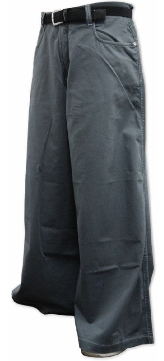 "Kikwear Jeans - Kikwear 38"" Denim Wide Leg Pants (Charcoal Grey)"
