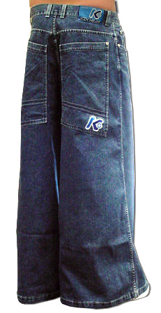 "Kikwear 38"" Severe WideLeg Raver Pants (Blue Denim)"