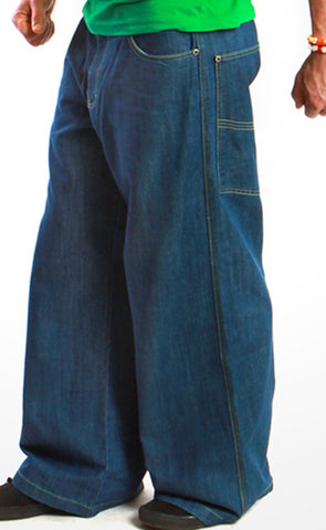 Kikwear Blue Denim Stash Pocket Supreme Pants (26 Inch Bottom)