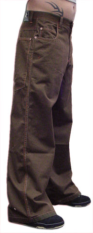 "Kikwear Jeans - Kikwear New Skool 26"" Bottom Pants (Brown)"