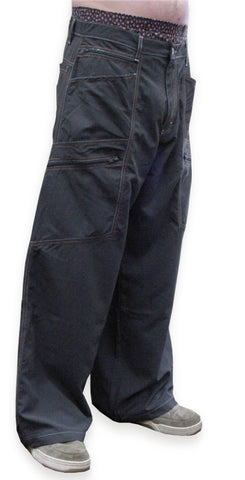 "Kikwear Jeans - Kikwear Super Soft 28"" Wide Leg Pants (Charcoal)"