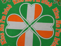 Kiss Me I'm Irish Clover Flag Bandana