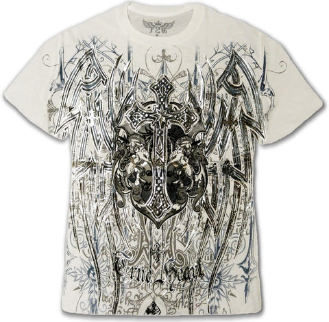 "Konflic Clothing ""True Heart Silver Cross"" T-Shirt"