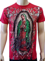 "Konflic Clothing ""Vision of Guadalupe"" T-Shirt  (Red)"
