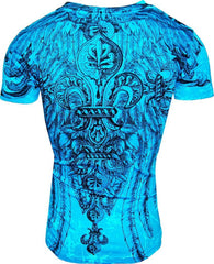 Konflic Giant Tribal Cross T-shirt (Blue)