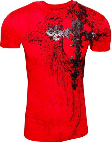 Konflic Giant Tribal Cross T-shirt (Red)
