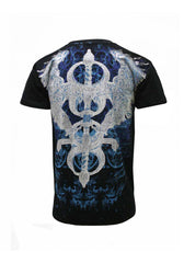 Konflic Soaring Eagles and Sword Mens T-shirt (Black)