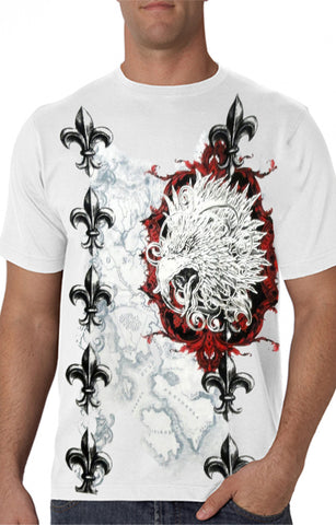 Konflic White Eagle Of Death Men's T-Shirt (White)