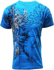 Konflic Winged Sword T-shirt (Blue)