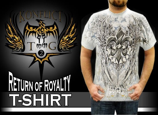 "Konflic Clothing ""Return of Royalty"" T-Shirt (White)"