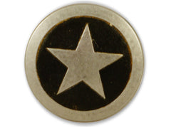 Leather Accent Star Belt Buckle With FREE Leather Belt